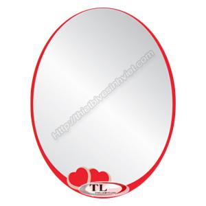 Gương ghép Tùng Lâm 1 lớp TL-1561 (50x70cm) màu Bầu Dục