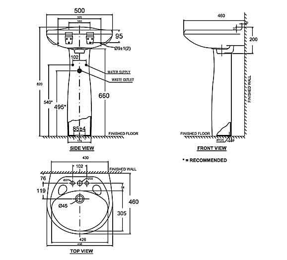 Chậu rửa chân dài American Standard VF-0969/VF-0901