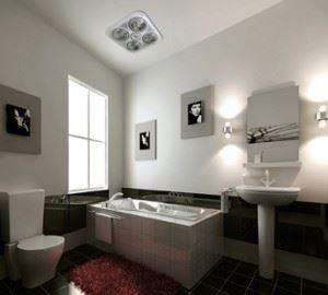 Hướng dẫn lắp đặt đèn sưởi phòng tắm Hans