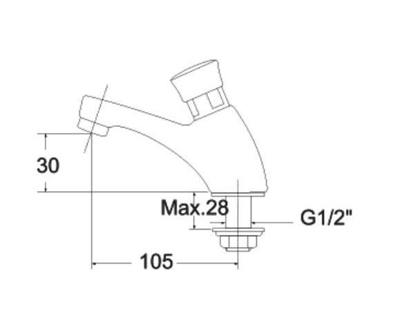 Vòi nước lạnh bán tự động AmericanStandard A-2400N