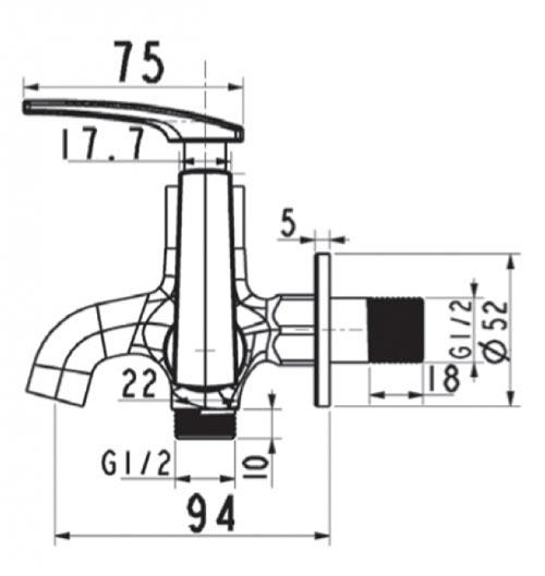 Vòi xả lạnh AmericanStandard A-7605C - kt