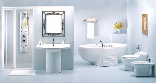 Sắp xếp các thiết bị vệ sinh theo phong cách 1