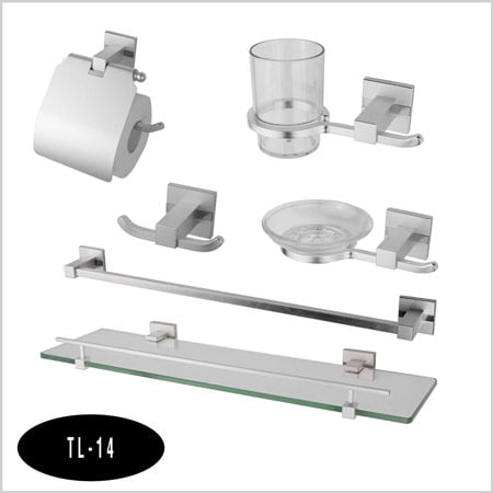 Bộ phụ kiện phòng tắm 6 món Tùng lâm TL-14 inox mạ crom