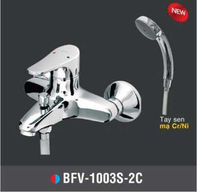 Vòi sen tắm nóng lạnh Tay sen mạ INAX BFV-1003S-2C