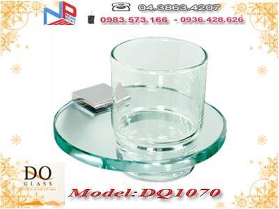 Giá đựng cốc đánh răng đơn kính cường lực Đình Quốc DQ1070