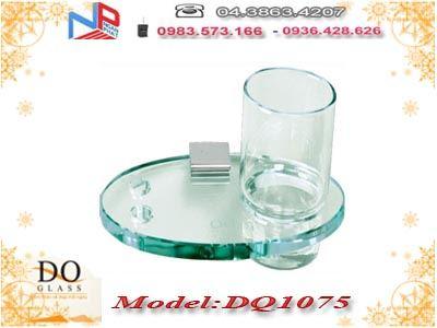 Giá đựng cốc đánh răng đơn kính cường lực Đình Quốc DQ1075