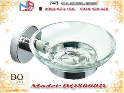 Kệ đựng xà phòng inox kính cường lực Đình Quốc DQ8000B