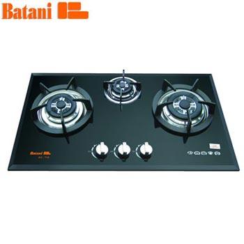 Bếp gas âm Batani BA-73S (3 lò nấu Khay tròn)