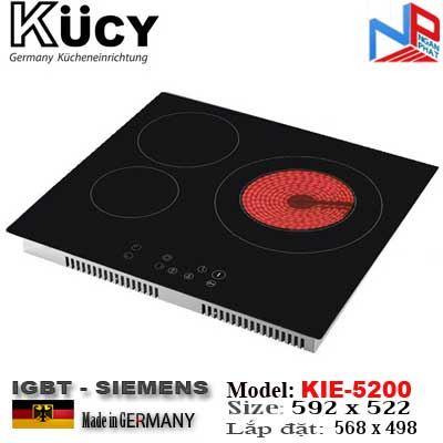 Bếp hỗn hợp 2 Điện, 1 Từ Kucy KIE-5200