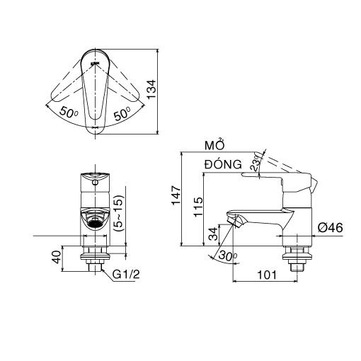 Vòi lạnh Inax LFV-21S