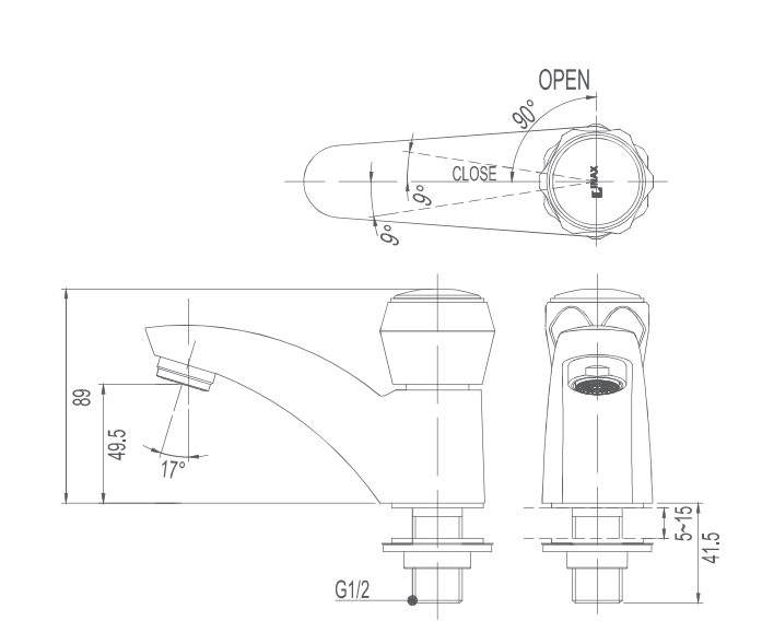 Vòi chậu nước lạnh Inax LFV-12A
