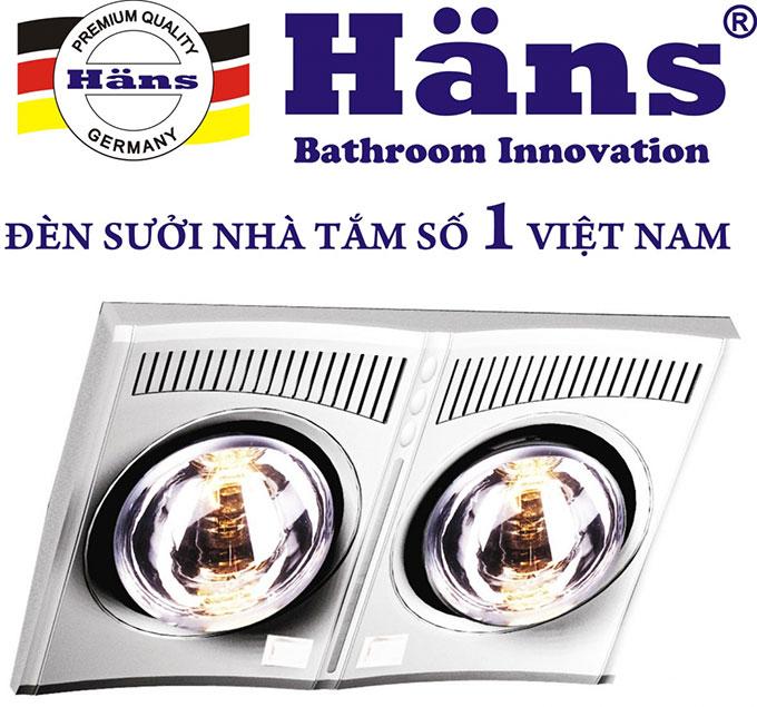 Đèn sưởi phòng tắm Hans H2B610