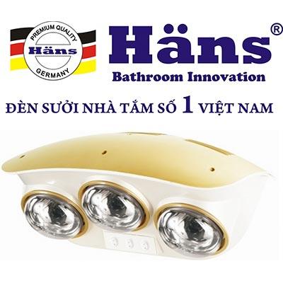 Đèn sưởi hồng ngoại Hans H3B110