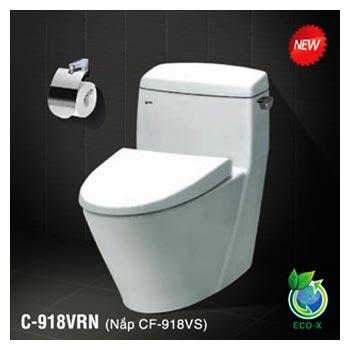 Bàn cầu 1 khối Inax C-918VRN (Công nghệ mới Eco-X)