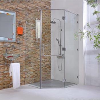 Vách tắm kính theo yêu cầu NP – Bộ 2 cạnh