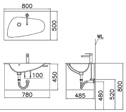 Kết quả hình ảnh cho bản vẽ kỹ thuật chậu lf5036