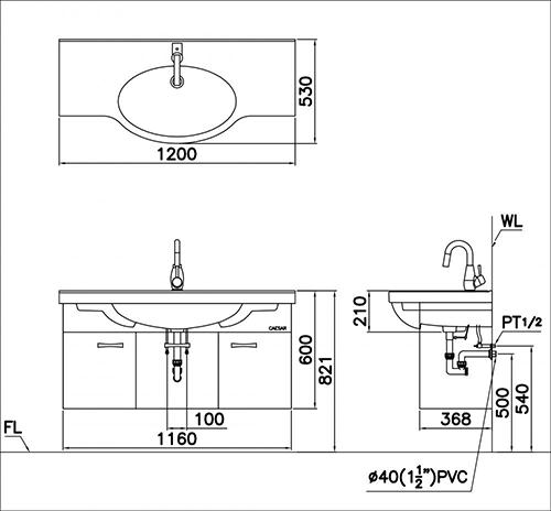 Kết quả hình ảnh cho bản vẽ kỹ thuật chậu lf5324