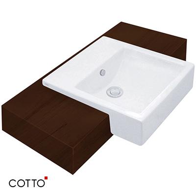 Chậu bán âm bàn COTTO C02717
