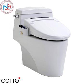 Bồn cầu cảm ứng kèm nắp rửa điện tử Cotto C10527(CV)