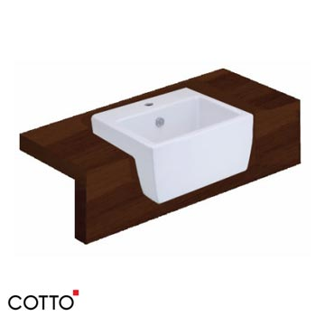 Chậu bán âm bàn COTTO C02217