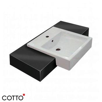 Chậu bán âm bàn COTTO C02137