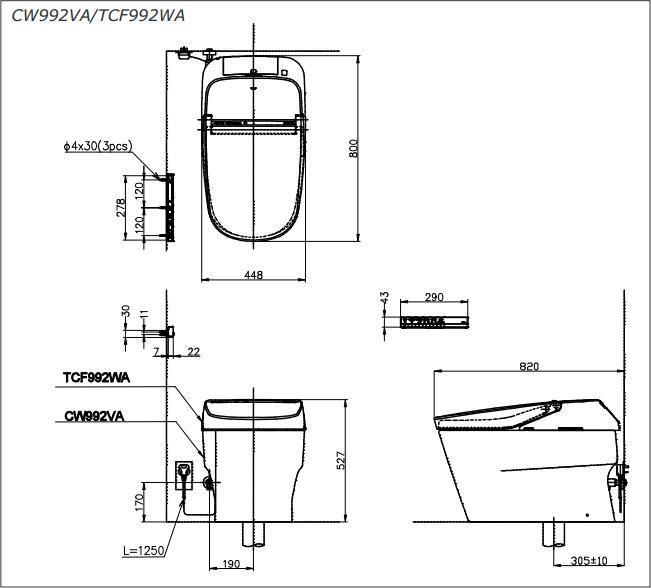 Bàn cầu điện tử TOTO CW992VA/TCF992WA