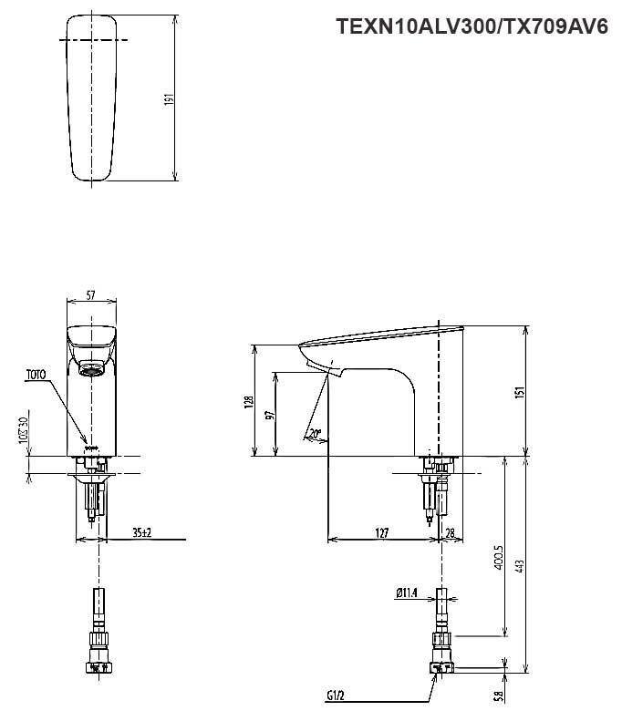 Vòi cảm ứng ToTo TEXN10ALV300/TX709AV6