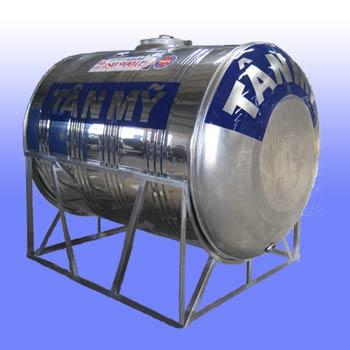 Bồn nước inox Tân Mỹ dung tích 3500 lít nằm ngang TM3500 (Ф1360)