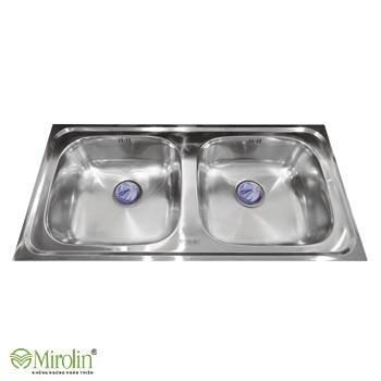 Chậu rửa bát inox 304 Mirolin MT1000-2B