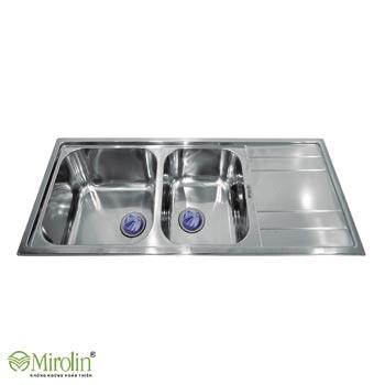 Chậu rửa bát inox 304 Mirolin MT1200-2B1D/R