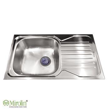 Chậu rửa bát inox 304 Mirolin MT820-1B1D/R