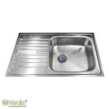 Chậu rửa bát inox 304 Mirolin MT860-1B1D/L