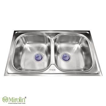 Chậu rửa bát inox 304 Mirolin MT860-2B