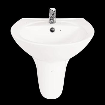 Chậu rửa chân lửng treo tường Hảo Cảnh HC C05N