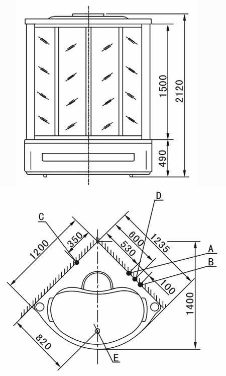 Bản vẽ kỹ thuật lắp đặt phòng xông hơi Appollo A-0812