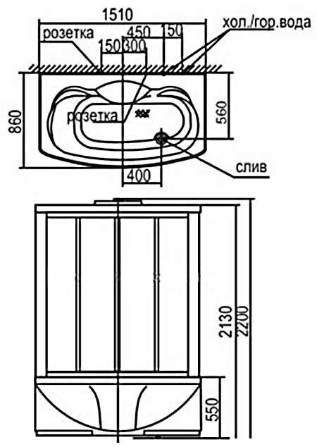 Bản vẽ kỹ thuật lắp đặt phòng xông hơi Appollo A-0828S
