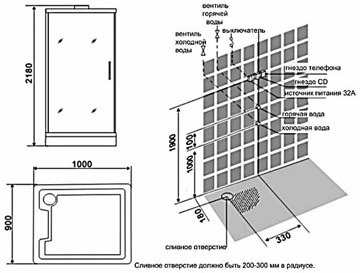 Bản vẽ kỹ thuật lắp đặt phòng xông hơi Appollo A-8035B