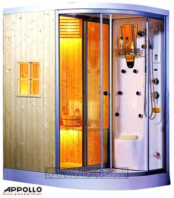 Phòng xông hơi Appollo AG-0201 (Xông khô, Xông ướt, Massage)