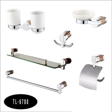 Bộ phụ kiện phòng tắm 6 món Tùng lâm TL-6700 đồng mạ crom