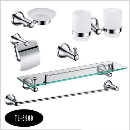Bộ phụ kiện phòng tắm 6 món Tùng lâm TL-6900 đồng mạ crom