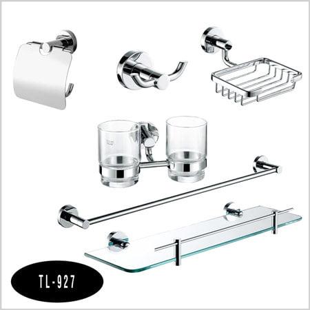 Bộ phụ kiện phòng tắm 6 món Tùng lâm TL-927 inox mạ crom