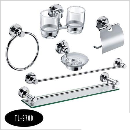 Bộ phụ kiện phòng tắm 6 món Tùng lâm TL-9700 đồng mạ crom