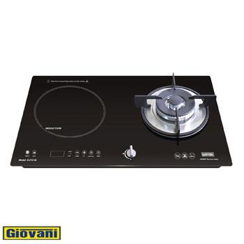 Bếp điện từ Giovani G-212IG (1 từ + 1 ga)