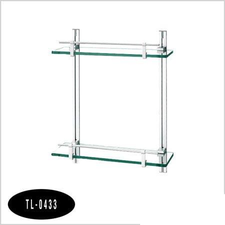 Kệ nhôm kính thẳng 2 tầng TL-0433