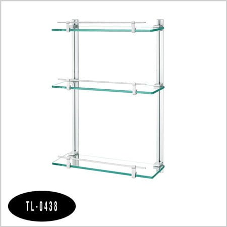 Kệ nhôm kính thẳng 3 tầng TL-0438