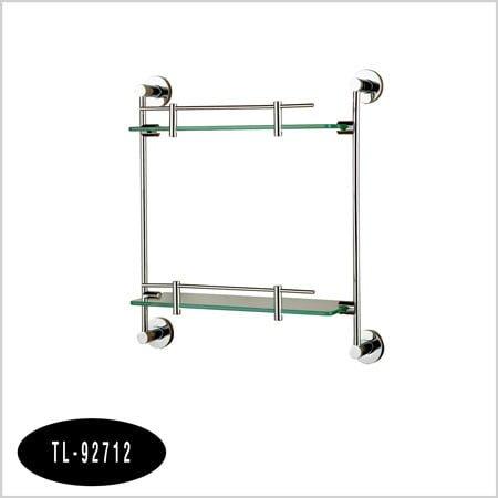 Kệ inox kính thẳng 2 tầng TL-92712
