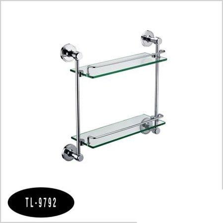 Kệ inox kính thẳng 2 tầng TL-9792