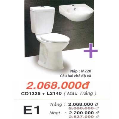 Bệt 2 khối Caesar CD1235+chậu L2140