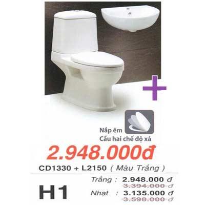 Bệt 2 khối Caesar CD1330 + chậu L2150