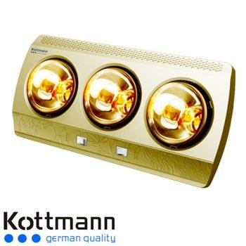 Đèn sưởi 3 bóng dòng vàng Kottmann K3B-G 1